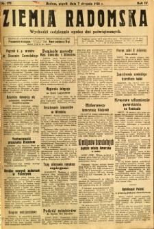 Ziemia Radomska, 1931, R. 4, nr 179