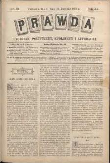 Prawda : tygodnik polityczny, społeczny i literacki, 1895, R. 15, nr 19