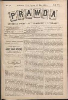 Prawda : tygodnik polityczny, społeczny i literacki, 1895, R. 15, nr 23