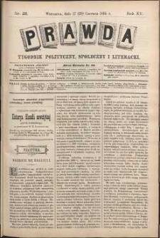 Prawda : tygodnik polityczny, społeczny i literacki, 1895, R. 15, nr 26