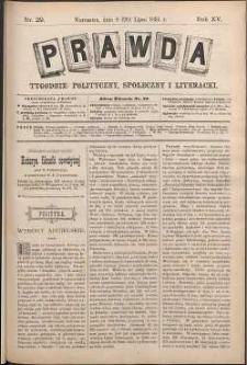 Prawda : tygodnik polityczny, społeczny i literacki, 1895, R. 15, nr 29