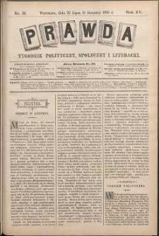 Prawda : tygodnik polityczny, społeczny i literacki, 1895, R. 15, nr 31