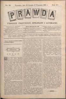 Prawda : tygodnik polityczny, społeczny i literacki, 1895, R. 15, nr 36