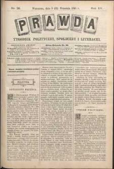 Prawda : tygodnik polityczny, społeczny i literacki, 1895, R. 15, nr 38