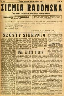 Ziemia Radomska, 1931, R. 4, nr 181