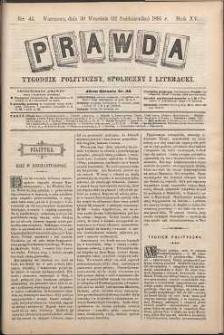 Prawda : tygodnik polityczny, społeczny i literacki, 1895, R. 15, nr 41
