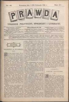 Prawda : tygodnik polityczny, społeczny i literacki, 1895, R. 15, nr 46