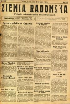 Ziemia Radomska, 1931, R. 4, nr 183