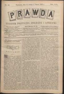Prawda : tygodnik polityczny, społeczny i literacki, 1896, R. 16, nr 10