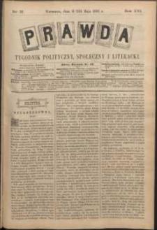 Prawda : tygodnik polityczny, społeczny i literacki, 1896, R. 16, nr 21