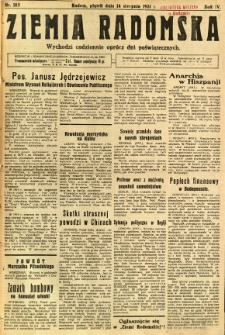 Ziemia Radomska, 1931, R. 4, nr 185