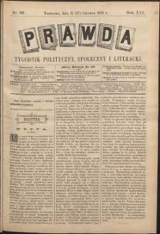 Prawda : tygodnik polityczny, społeczny i literacki, 1896, R. 16, nr 26