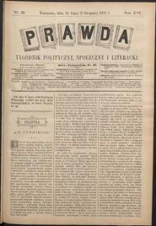 Prawda : tygodnik polityczny, społeczny i literacki, 1896, R. 16, nr 31