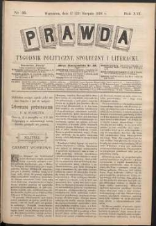 Prawda : tygodnik polityczny, społeczny i literacki, 1896, R. 16, nr 35