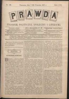 Prawda : tygodnik polityczny, społeczny i literacki, 1896, R. 16, nr 38