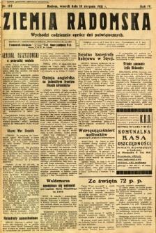 Ziemia Radomska, 1931, R. 4, nr 187