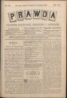 Prawda : tygodnik polityczny, społeczny i literacki, 1896, R. 16, nr 49