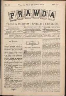 Prawda : tygodnik polityczny, społeczny i literacki, 1896, R. 16, nr 51