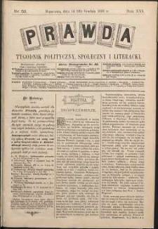 Prawda : tygodnik polityczny, społeczny i literacki, 1896, R. 16, nr 52