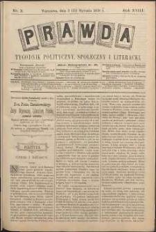 Prawda : tygodnik polityczny, społeczny i literacki, 1898, R. 18, nr 3
