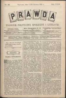 Prawda : tygodnik polityczny, społeczny i literacki, 1898, R. 18, nr 25