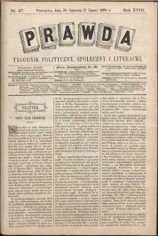Prawda : tygodnik polityczny, społeczny i literacki, 1898, R. 18, nr 27
