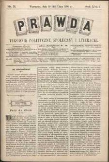 Prawda : tygodnik polityczny, społeczny i literacki, 1898, R. 18, nr 31