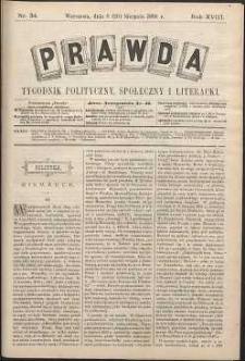 Prawda : tygodnik polityczny, społeczny i literacki, 1898, R. 18, nr 34
