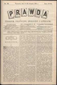 Prawda : tygodnik polityczny, społeczny i literacki, 1898, R. 18, nr 35