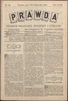 Prawda : tygodnik polityczny, społeczny i literacki, 1898, R. 18, nr 42