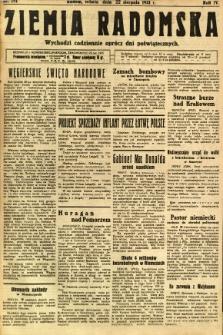Ziemia Radomska, 1931, R. 4, nr 191