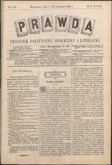 Prawda : tygodnik polityczny, społeczny i literacki, 1898, R. 18, nr 51