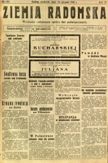 Ziemia Radomska, 1931, R. 4, nr 192