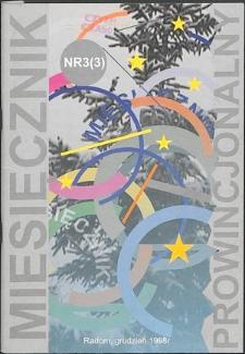 Miesięcznik Prowincjonalny, 1998, R. 1, nr 3