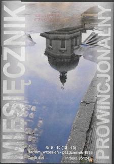 Miesięcznik Prowincjonalny, 1999, R. 2, nr 9/10