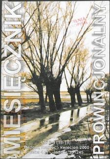 Miesięcznik Prowincjonalny, 2000, R. 3, nr 3/4