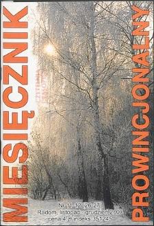 Miesięcznik Prowincjonalny, 2000, R. 3, nr 11/12
