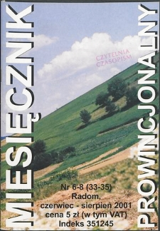Miesięcznik Prowincjonalny, 2001, R. 4, nr 6/8