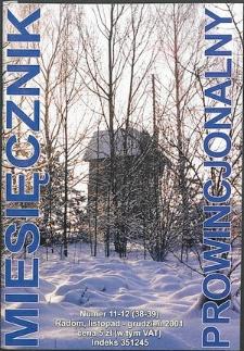 Miesięcznik Prowincjonalny, 2001, R. 4, nr 11/12