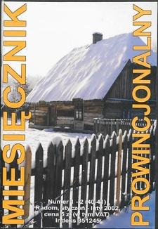 Miesięcznik Prowincjonalny, 2002, R. 5, nr 1-2