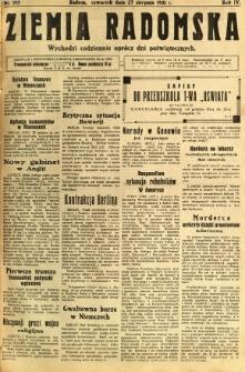 Ziemia Radomska, 1931, R. 4, nr 195