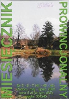 Miesięcznik Prowincjonalny, 2002, R. 5, nr 5/7