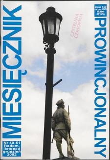 Miesięcznik Prowincjonalny, 2002, R. 5, nr 11/12