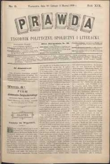 Prawda : tygodnik polityczny, społeczny i literacki, 1899, R. 19, nr 9