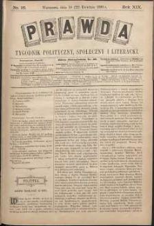 Prawda : tygodnik polityczny, społeczny i literacki, 1899, R. 19, nr 16