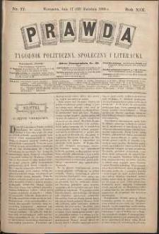 Prawda : tygodnik polityczny, społeczny i literacki, 1899, R. 19, nr 17