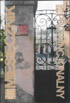 Miesięcznik Prowincjonalny, 2006, R. 8, nr 9/10
