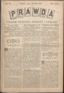 Prawda : tygodnik polityczny, społeczny i literacki, 1899, R. 19, nr 19
