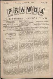 Prawda : tygodnik polityczny, społeczny i literacki, 1899, R. 19, nr 20