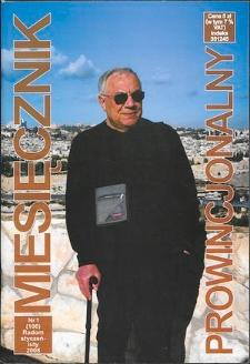 Miesięcznik Prowincjonalny, 2008, R. 10, nr 1